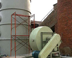陜西某磚廠窯爐脫硫塔